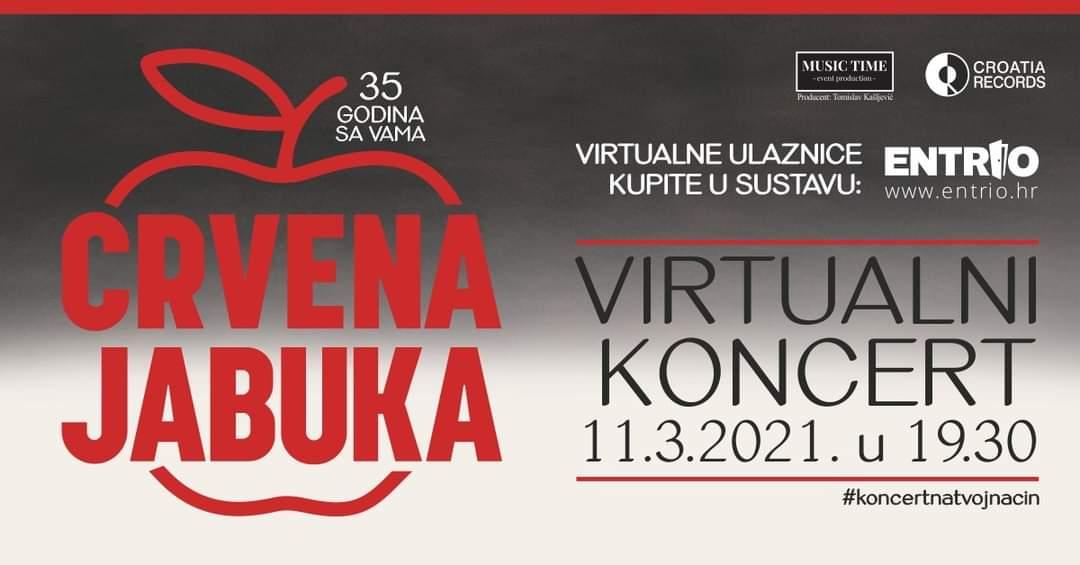 Crvena Jabuka - Virtualni koncert - Najava